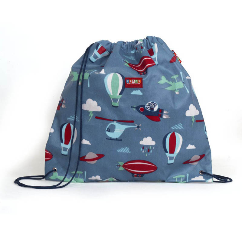 Penny Scallan Library/Swimming Bags- Drawstring Bag {Space Monkey}