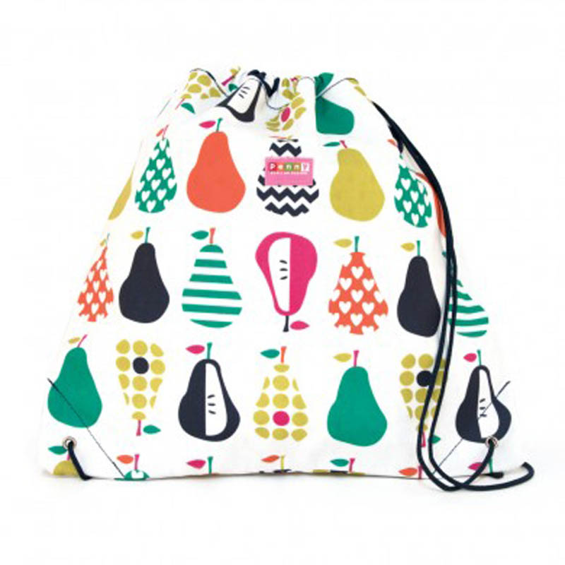 Penny Scallan Pear Draw String Bag