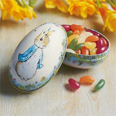 Peter Rabbit Egg Shaped Tin