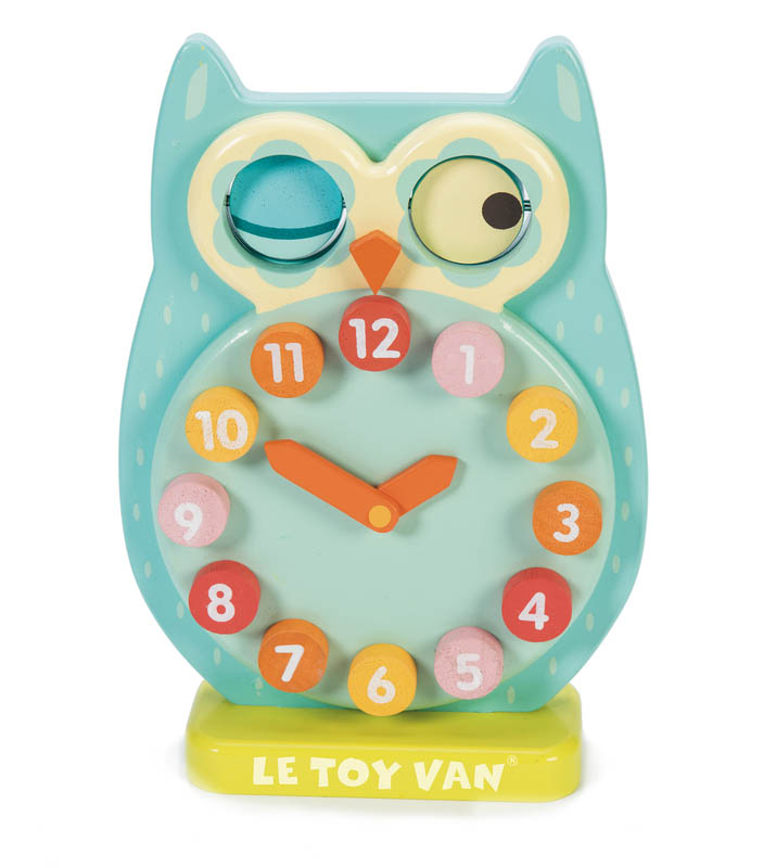 Petilou-Wooden Toys-Blink Owl Time Clock