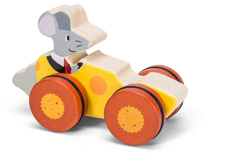 Petilou-Wooden Toys-Woodland Race Cars-Mouse