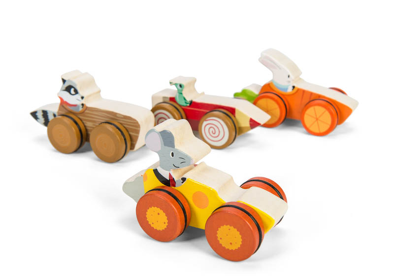 Le Toy Van Petilou Woodland Race Cars