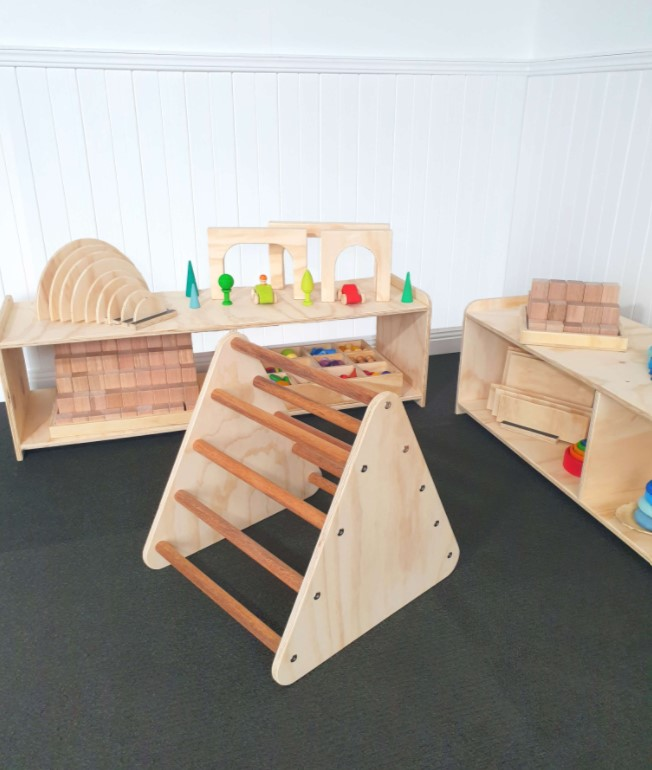 Pikler Triangle Small Wooden Climbing Frame