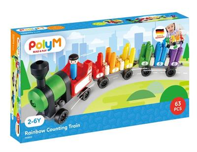 Poly M Rainbow Counting Train Kit