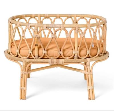 Poppie Rattan Doll Crib Clay