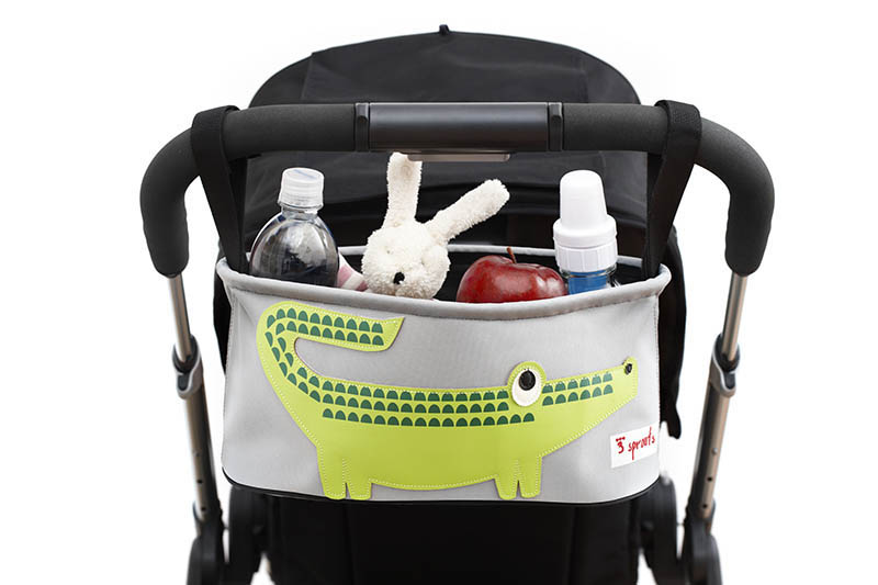 3 Sprouts Crocodile Stroller Organiser
