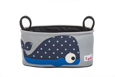 3 Sprouts Pram Organiser- Whale
