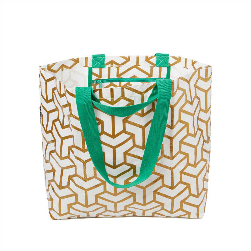 Project Ten - Gold Cubes Medium Tote Bag