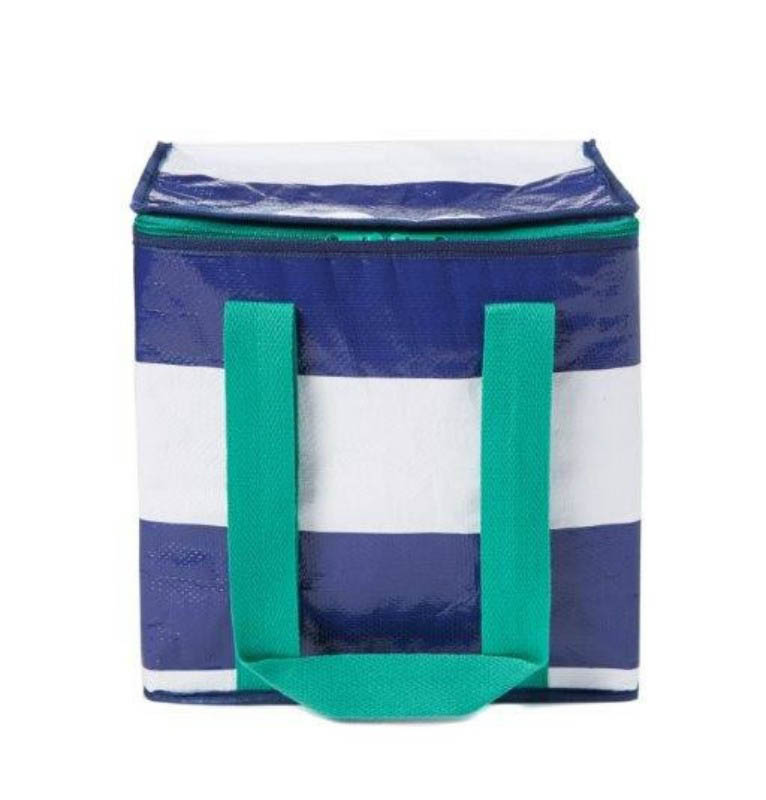 Project Ten - Navy Stripe Insulated Cooler Bag