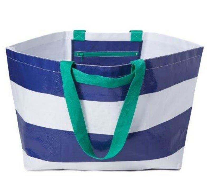 Project Ten - Navy Stripe Oversize Tote Bag