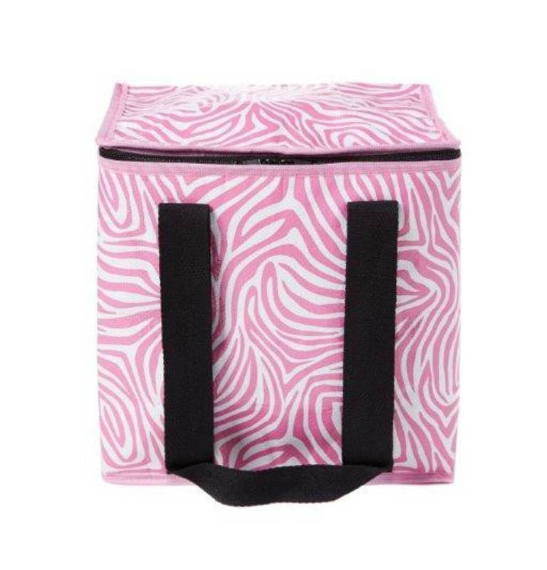 Project Ten - Pink Zebra Insulated Cooler Bag