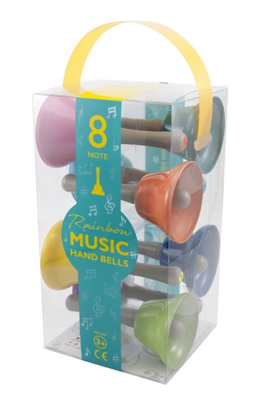 Rainbow Musical Hand Bells 8 Piece Set