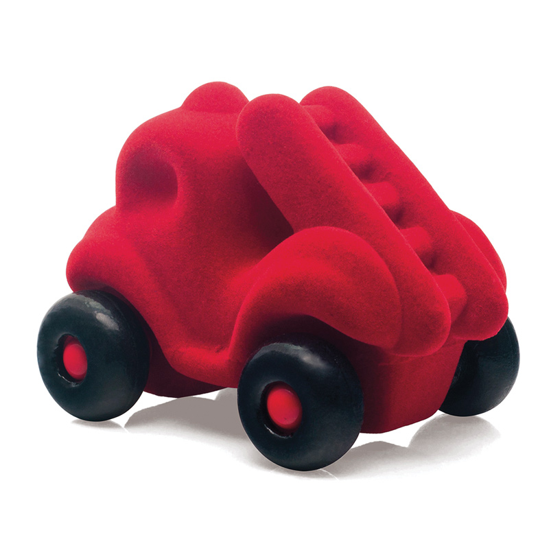 Rubbabu bright red firetruck toy