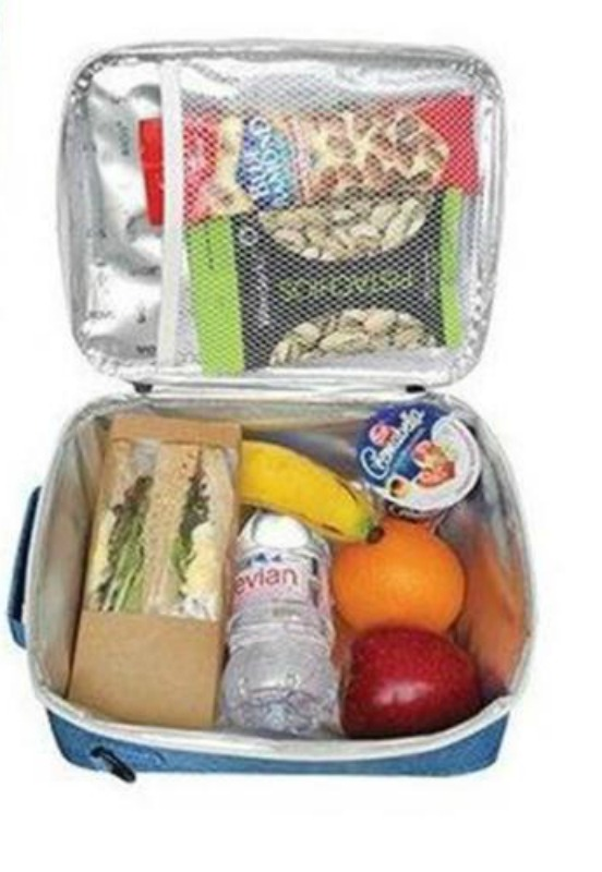 example of inside a filled Sachi Lunchbag