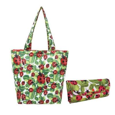 Sachi Insulated Market Tote Lady Bug