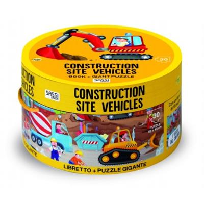 Construction Giant Puzzle & Book 30 pcs