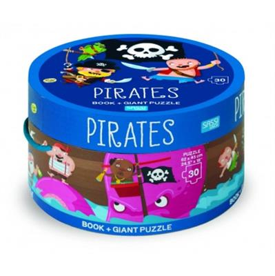 Pirates Giant Puzzle & Book 30 pcs
