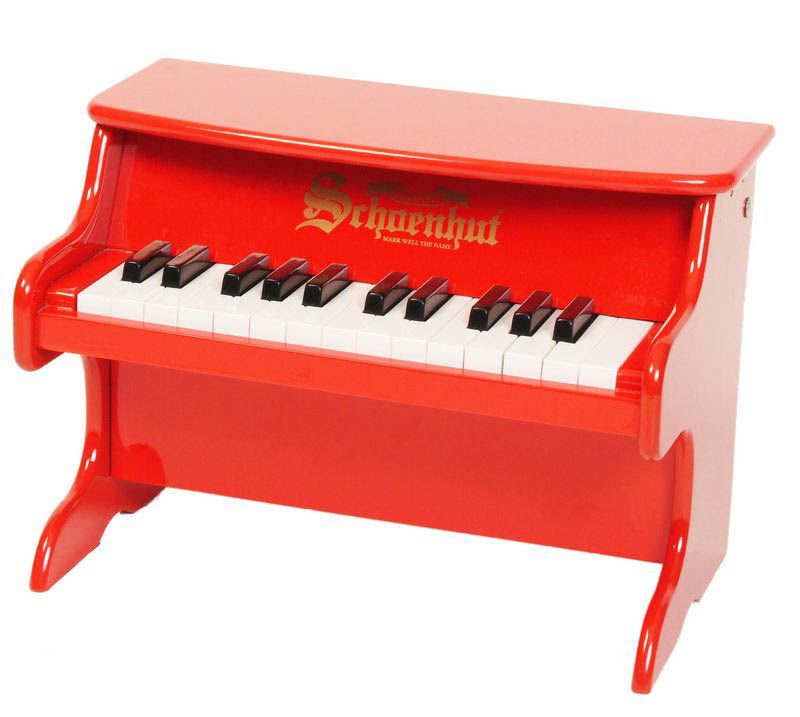 Schoenhut's 25 key First Piano - Red