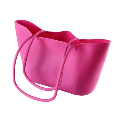 Scrunch Silicone Shoulder Bag - Pink