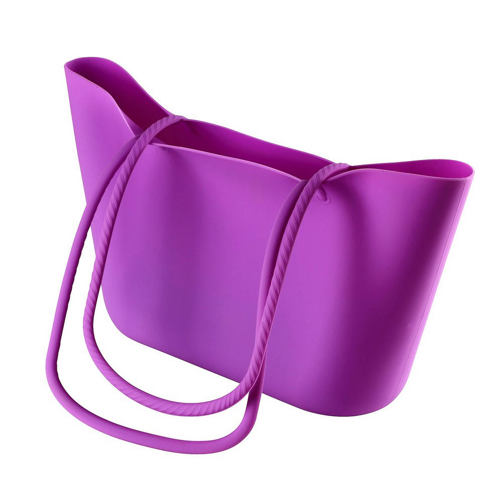 Scrunch Silicone Shoulder Bag - Purple