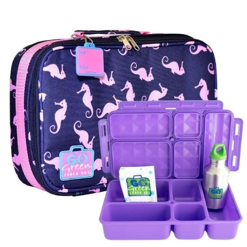 Sea Horses Go Green Lunch Box Set