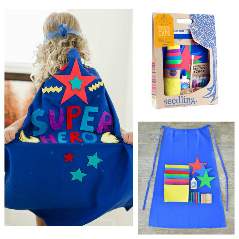 Seedling Design Your Own Super Hero Cape BLUE