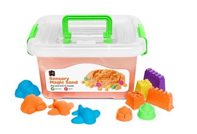 Sensory Magic Sand and Moulds 2kg Orange