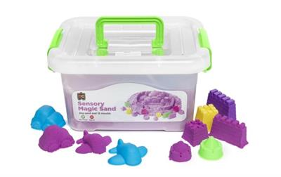 Sensory Magic Sand and Moulds 2kg Purple
