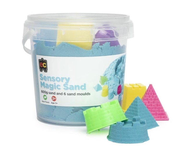Blue Sensory Magic Sand and Moulds 600g