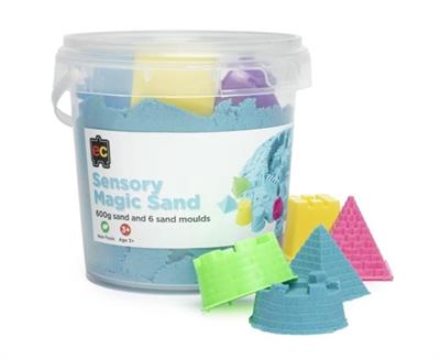 Sensory Magic Sand and Moulds 600g Blue