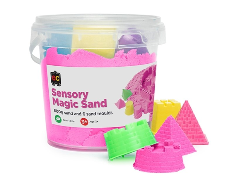 Pink Sensory Magic Sand and Moulds 600g