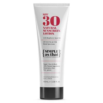 SIMPLE as that Natural Sunscreen Lotion SPF 30 100ml