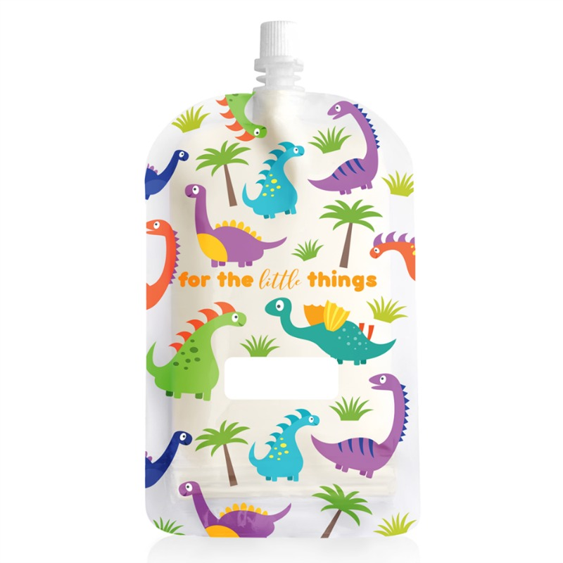Sinchies Dinosaur Top Spout Reusable Pouches 200ml 10pk