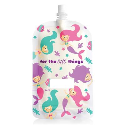 Sinchies Mermaids Top Spout Reusable Pouches 200ml 10pk