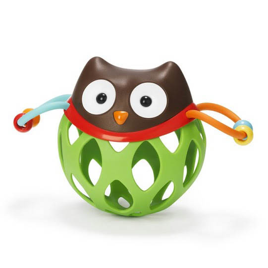 Skip Hop- Baby Toys- Roll Around Rattle {Owl}