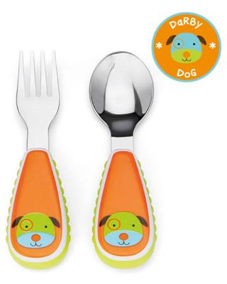 Skip Hop Dog Fork and Spoon Set
