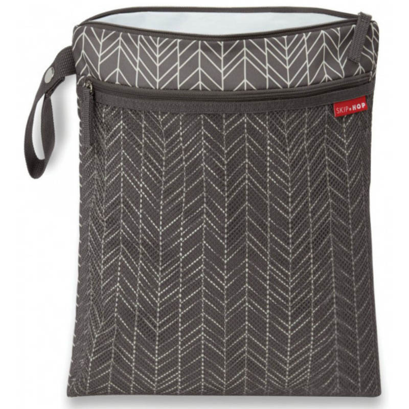Skip Hop-Grab and Go Wet and Dry Bag-Grey Feather