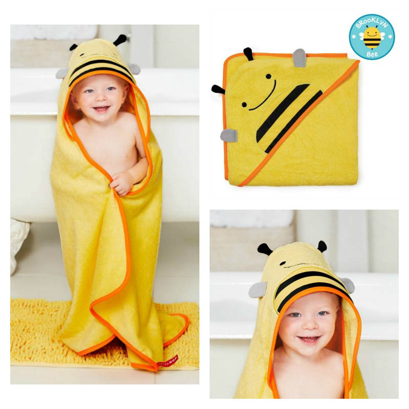 Skip Hop Zoo - Bathtime - Bee Hooded Towel
