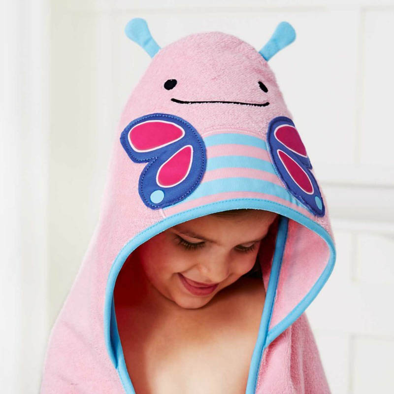 Skip Hop Zoo - Bathtime - Butterfly Hooded Towel