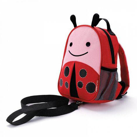 Skip Hop Zoo-Kids Backpacks- Let Mini Backpack with Safety Harness {Ladybug}