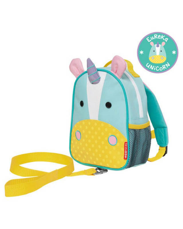 Skip Hop Zoo-Kids Backpacks- Let Mini Backpack with Safety Harness {Unicorn}