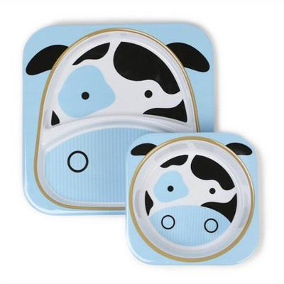 Skip Hop Zoo-Kids Dinnerware-Melamine Set {Cow}