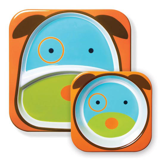 Skip Hop Zoo-Kids Dinnerware-Melamine Tableware Set {Dog}