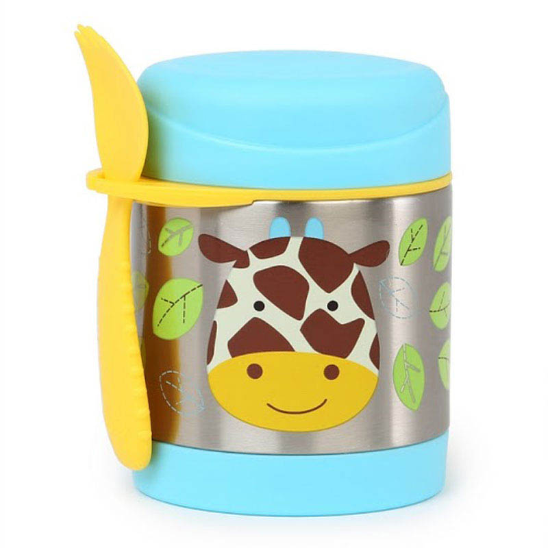 Skip Hop Zoo-Kids Lunchboxes-Insulated Food Jar {Giraffe}