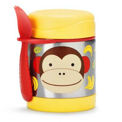 Skip Hop Zoo-Kids Lunchboxes- Insulated Food Jar {Monkey}