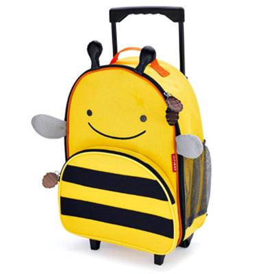 Skip Hop Zoo Kids Travel Rolling Luggage (Bee)