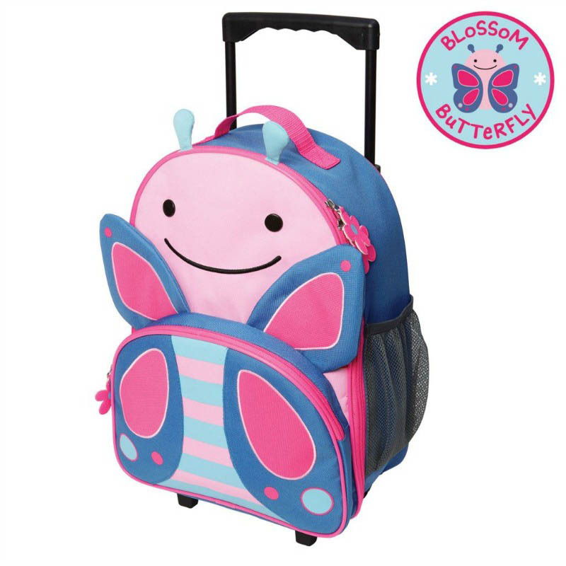 Skip Hop Zoo- Kids Travel-Little Kid Rolling Luggage {Butterfly}
