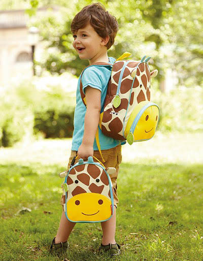 Skip Hop Zoo Giraffe Backpack and Lunch Bag