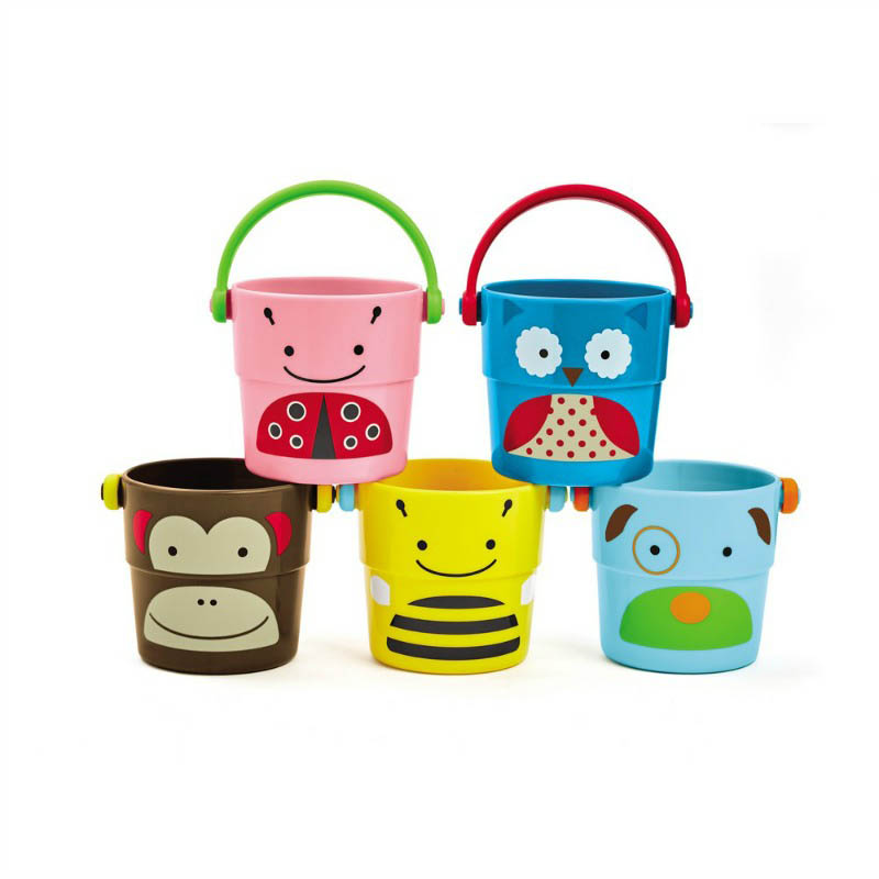Skip Hop Zoo-Stack and Pour Buckets (set of 5)