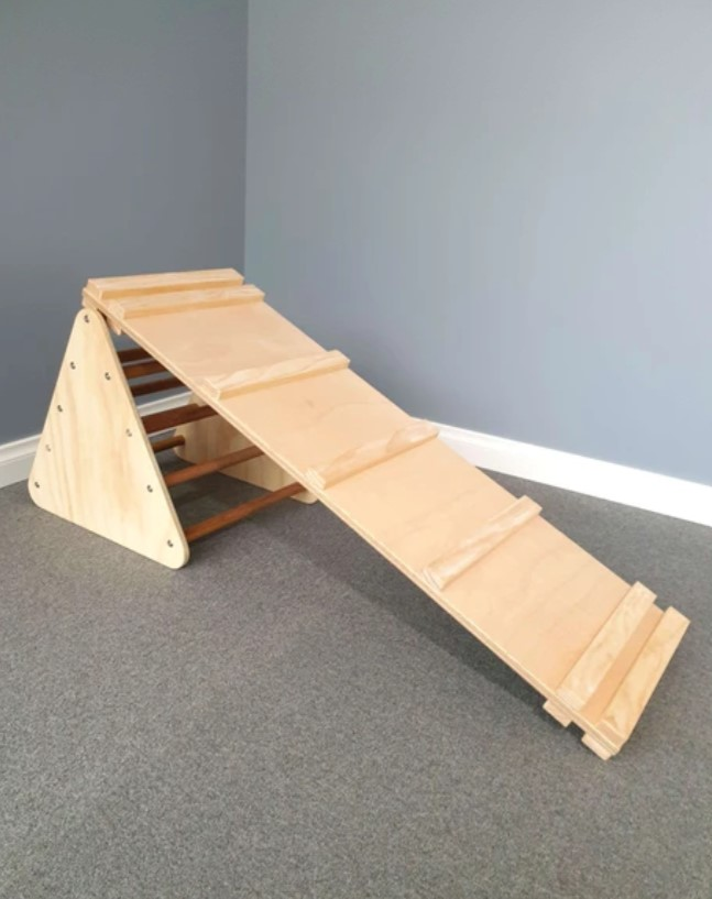 Small Pikler Triangle and Ramp Package
